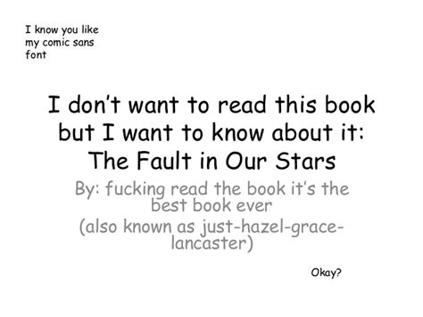 book report of the fault in our the fault in our novel pdf