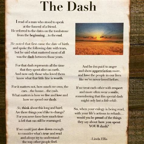 dash for the the dash poem by ellis wade shipman