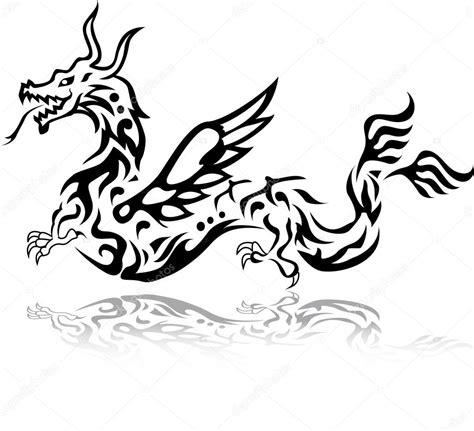 tribal tattoo dragon vector illustration dragon tattoo tribal stock vector 169 starlight789 12856337