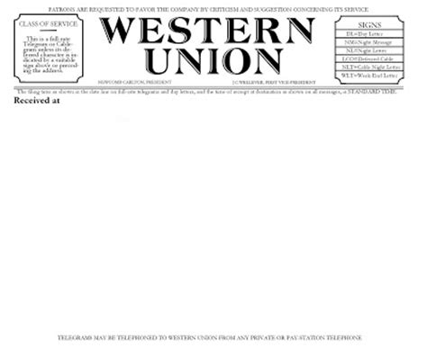 telegram template propnomicon period western union telegram