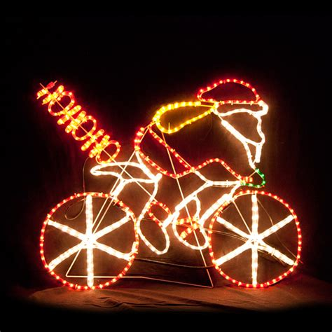 rope light santa motif rope light santa hohoho bicycle