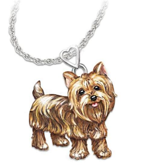yorkie necklace yorkie terrier silver pendant necklace breeds picture