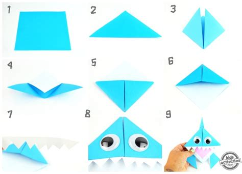 How To Make A Origami Shark Step By Step - celebrate shark week with this origami shark bookmark