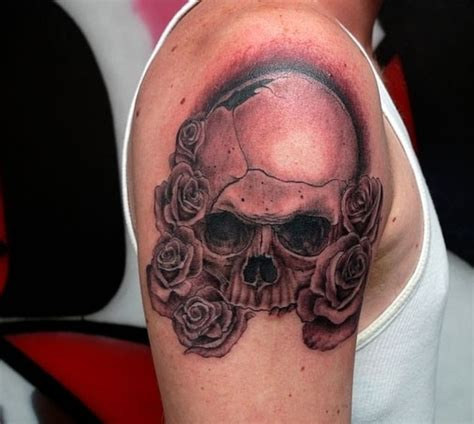 what does a rose and skull tattoo symbolize skull and roses tattoos designs ideas and meaning