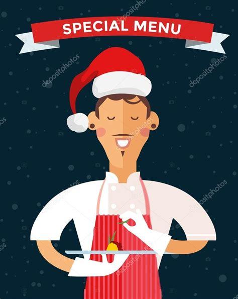 imagenes de navidad vectoriales chef de cocina de men 250 de navidad especial archivo