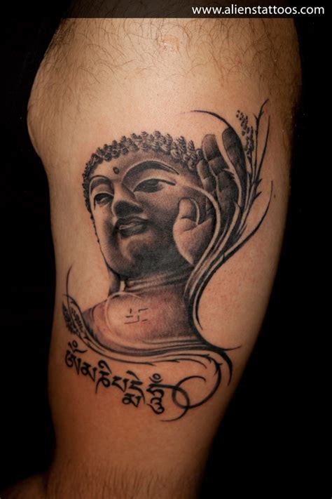 lord gautam buddha tattoo inked by sunny at aliens tattoo