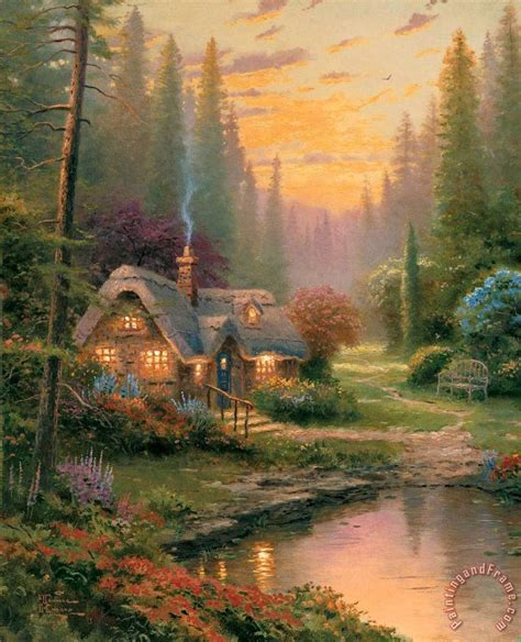 kinkade cottage painting kinkade cottages paintings search