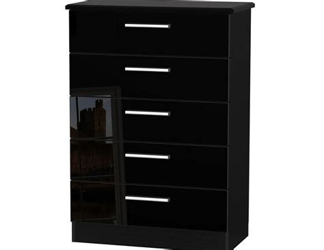 Black Gloss Chest Of Drawers by Black High Gloss 5 Drawer Chest