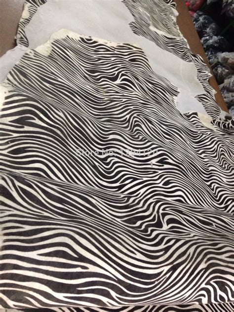 zebra pattern material aliexpress com buy genuine horse fur and leather skin
