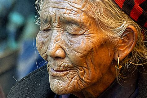 images of 64yr old wrinkly women old woman napping a photo from thimphu west trekearth