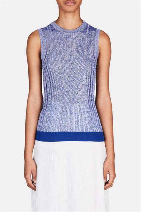 New Micca Grey acne studios micca mouline sweater blue white the line