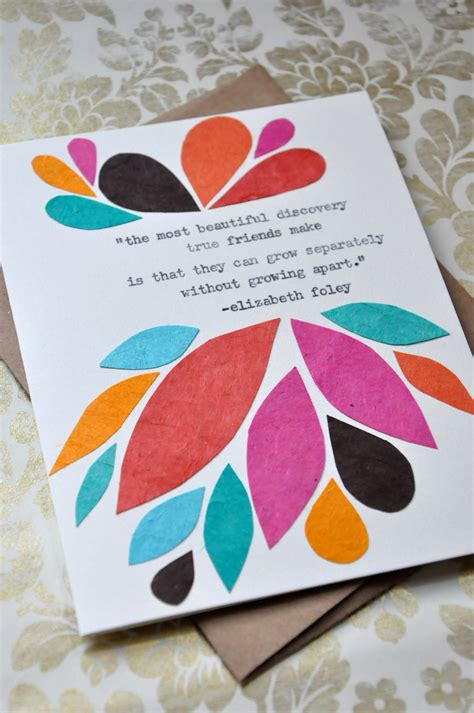 Greeting Cards Birthday Handmade - birthday card handmade greeting card friendship quote