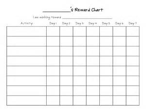 Graph Charts Templates by Printable Reward Chart Template Activity Shelter