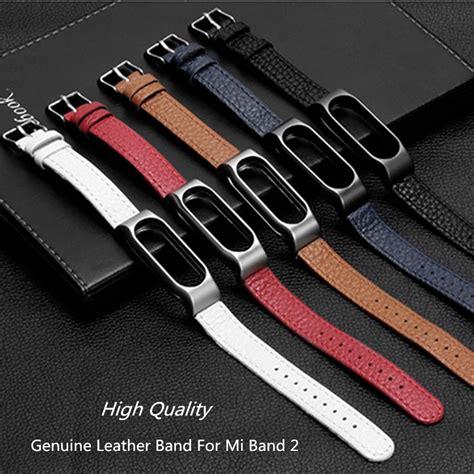 Mijobs Leather For Mi Band 2 Oled Original xiaomi mi band 2 genuine leather bracelet wrist band for original miband 2 oled display