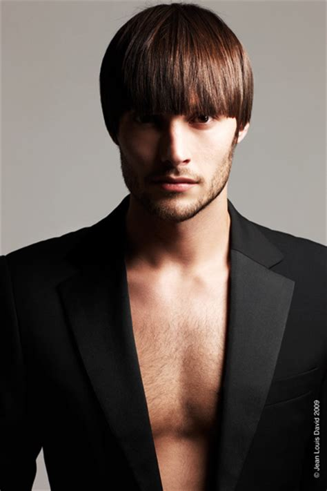 male bob hairstyle coiffure homme 233 t 233 2009 chez jean louis david style