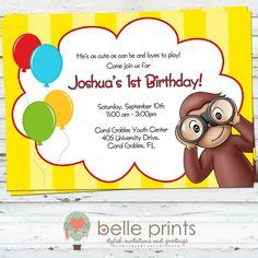 curious george invitation template curious george birthday invitations orionjurinform