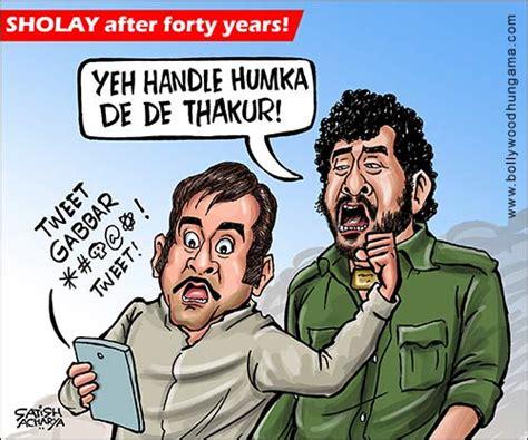 sholay film cartoon video bollywood toons sholay after 40 years bollywood hungama