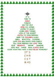 esl kids worksheets christmas tree