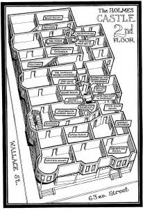 h and h homes floor plans the castle h h holmes