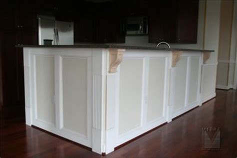 kitchen island wainscoting kitchen