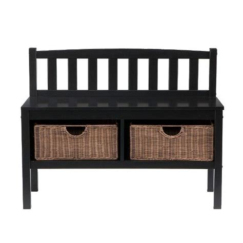 basket bench storage southern enterprises storage basket bench black
