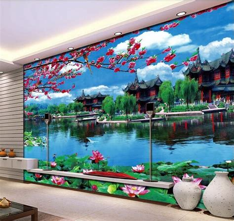 buy wall mural aliexpress buy 3d room wallpaper custom mural non woven wall sticker garden scenery