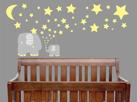 elephant nursery wall decor grey and yellow elephant wall decals elephant wall decor