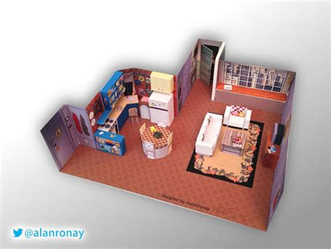 awesome papercraft dioramas of popular tv show sets