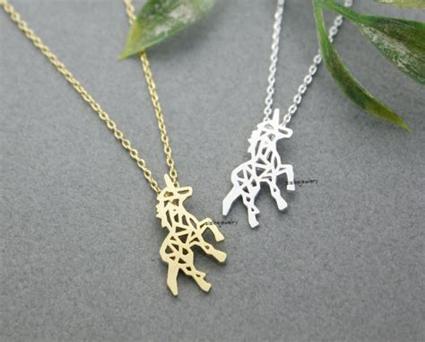 kinitial gold silver beautiful unicorn necklace for best friend gift unicorn