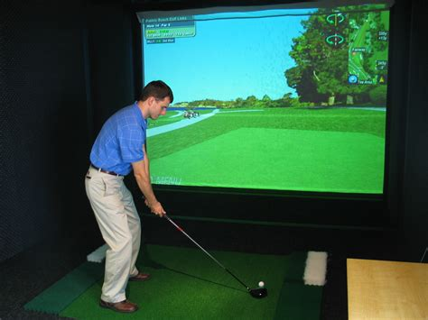 golf swing simulator golf simulator cus recreation eastern kentucky