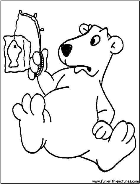 cartoon bear coloring page free coloring pages of polar bear cartoon