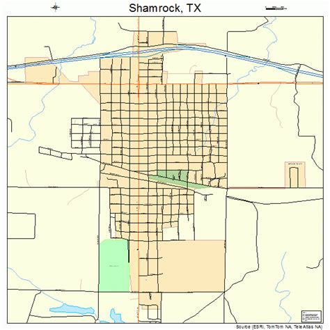 shamrock texas map shamrock texas map 4867160