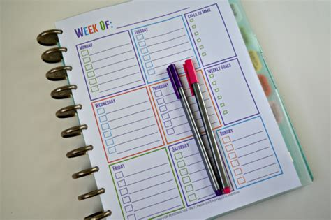 free printable notebook planner free printable calendars for your filofax household