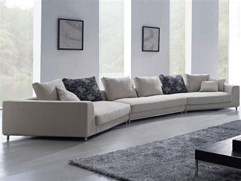 Large Modern Sofas Contemporary White Oversized Fabric Sectional Sofa W Pillows Modern Design Ebay