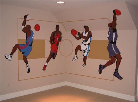 sport wall murals basketball mural