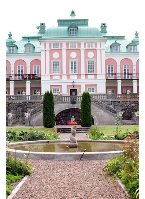 stunning baroque castle mansion  sweden idesignarch