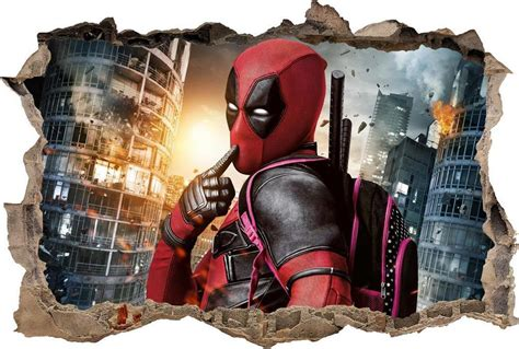 deadpool smashed wall decal graphic wall sticker home deadpool smashed wall decal graphic wall sticker home