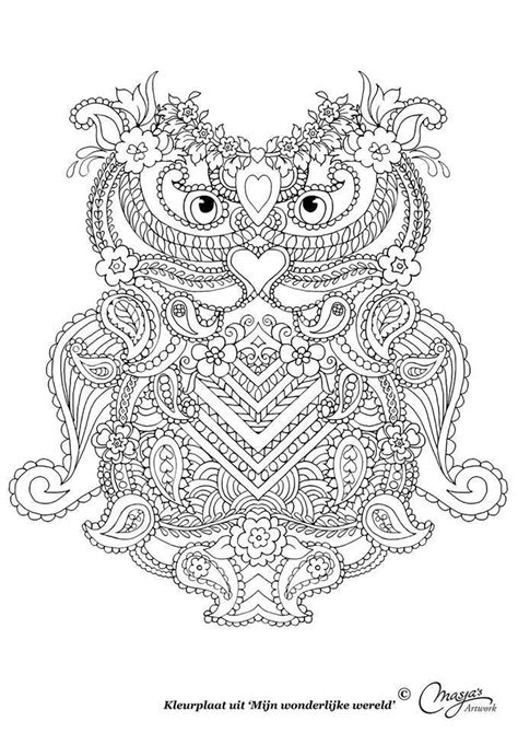 abstract paisley coloring pages uil owl abstract doodle zentangle paisley coloring pages