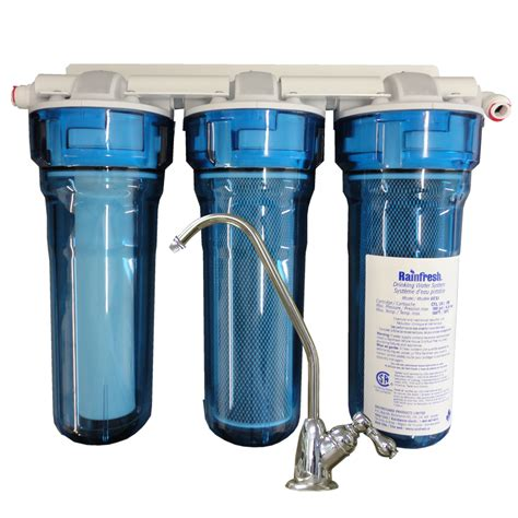 Water Softener Faucet Undersink Water Filtration System For Well Lake Or City