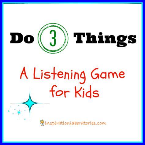 Listening Skills Worksheets For Kindergarten by Play Idea Do 3 Things Listening Kindergarten
