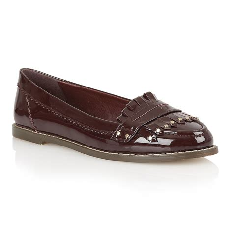 loafers for flat buy dolcis rotterdam flat loafers in burgundy