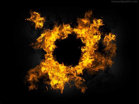 fire frame template design mockup  psd designhooks