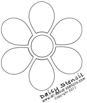 printable daisy stencils flower stencils patterns browse patterns