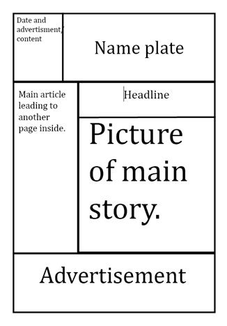 layout for tabloid tabloid newspaper layout design