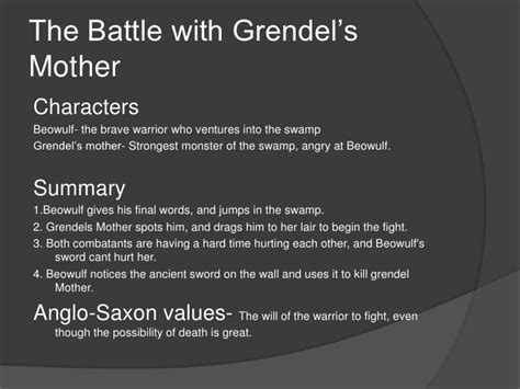Beowulf Summary By Section by Beowulf Analysis