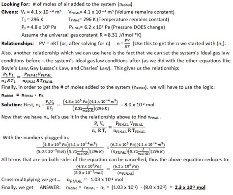 Ideal Gas Practice Worksheet Answers by Ideal Gas Wyzant Resources