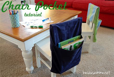classroom chair pockets tutorial because i m me