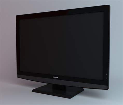 Tv Samsung Model Ua32fh4003r samsung lcd tv le26b350 electronics 3d models cgtrader