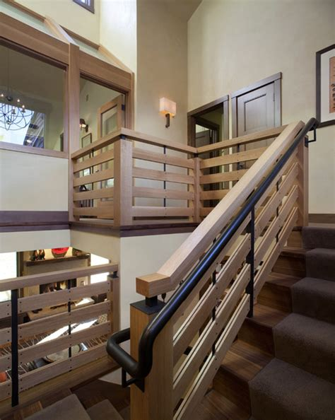 Interior Design Stairs And Landing stairwell landing view modern staircase denver by