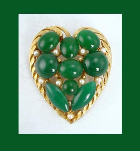 bsk green gt bsk green cabochon pin